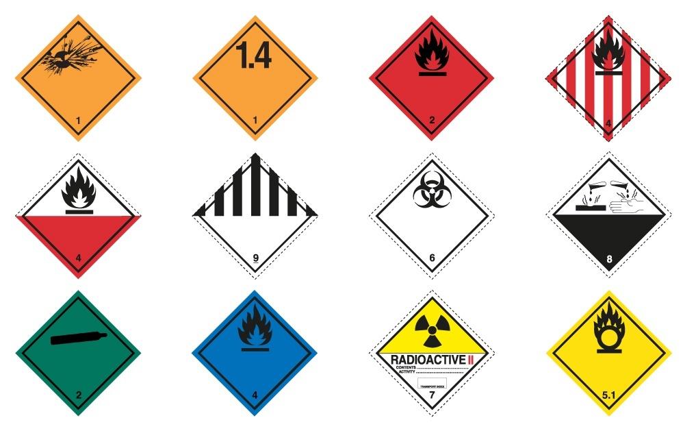dangerous goods labels free download